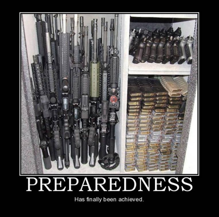preparedness motivational poster. Humorous homemade gun posters